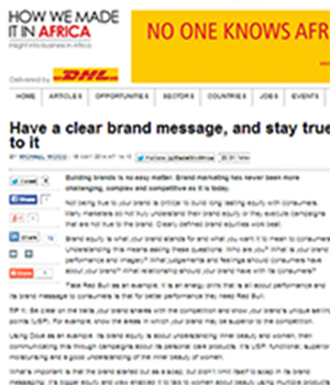 Have a clear brand message, and stay true to it