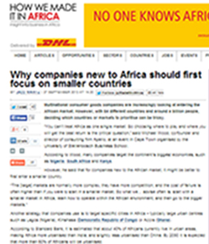 Why companies new to Africa should first focus on smaller countries