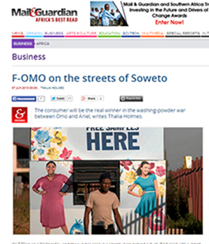 F-OMO on the streets of Soweto