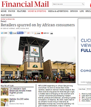 Retailers spurred on by African consumers